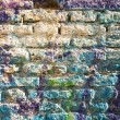 Bricks wall painted in different paint. — Stock Photo #33368967