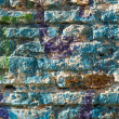 Bricks wall painted in different paint. — Stock Photo #33368983