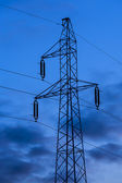 Modern electric high voltage tower. — Stock Photo