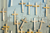 Votive crosses the symbol of Easter. — Stock Photo