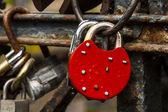 Red padlock. — Stock Photo