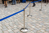 Metal barriers separating people at the concert. — Stock Photo