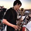 Saxophone player in a band. — 图库照片