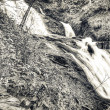 Stock Photo: Watefall in b&w