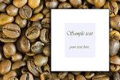 Coffe grains frame — Stock Photo