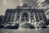 Trevi Fountain,Fontana di Trevi in Rome — Stock Photo
