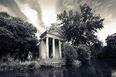Villa borghese a roma, il lago — Foto Stock
