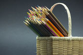 Color pencils composition — Stockfoto