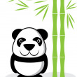 Panda cartoon — Image vectorielle