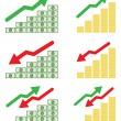 Money graph — Vector de stock
