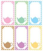Tea label theme — Stock Vector