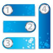 蓝色文字框 — 图库矢量图片