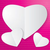 Paper Heart — Stock Vector