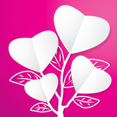 Tree of Paper Heart — Stock Vector