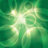泡沫绿色背景 — 图库矢量图片
