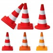 Safety Traffic Cones — Stock Vector