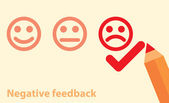 Negative feedback concept — Stock Vector