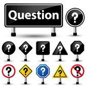 Question mark symbol sign — Stock Vector