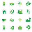 Green icon and symbol design — Stock Vector