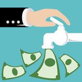 Open money — Stock Vector
