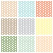 Vintage seamless polka dot patterns set — Stock Vector