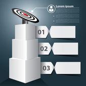 Target banner infographic — Stockvektor
