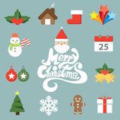 Christmas symbol icon — Stock Vector