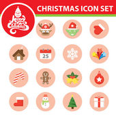 Christmas symbol icon set — Stock Vector
