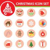 Christmas symbol icon set — Stock Vector