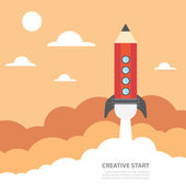 Creative start — Stock Vector