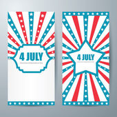 4 july card template — Stock Vector