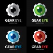 Gear eye symbol icon — Stock Vector
