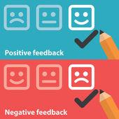 Positive and negative feedback — Stock Vector