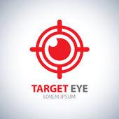 目标的眼睛符号图标 — 图库矢量图片