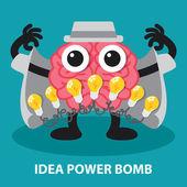 IDEA POWER BOMB — Stock Vector