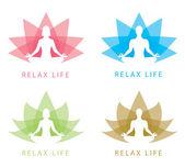 Relax symbol — Stock Vector