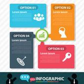 Modern bubble banner infographic design — Stock Vector