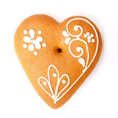 Gingerbread heart — Stock Photo