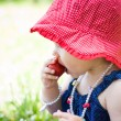 Strawberry girl — Stock Photo