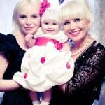 Family portrait-three generations — Stock Photo #28428753