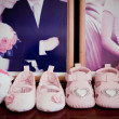 Stock Photo: Fashion baby shoes