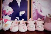 Fashion baby shoes — Stock Photo