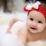 Christmas baby girl — Stock Photo