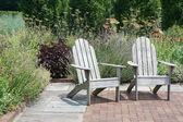 Backyard garden — Stock Photo