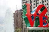 Philadelphia Love statue — Stock Photo