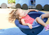 Cute baby girl on playground — Stock Photo