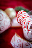 Christmas peppermint candy canes — ストック写真