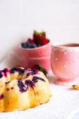 Berry cake on white background — Stock Photo