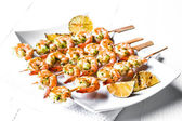 Grilled shrimps with limes — Foto Stock