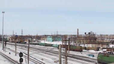 Pociąg kolei — Wideo stockowe